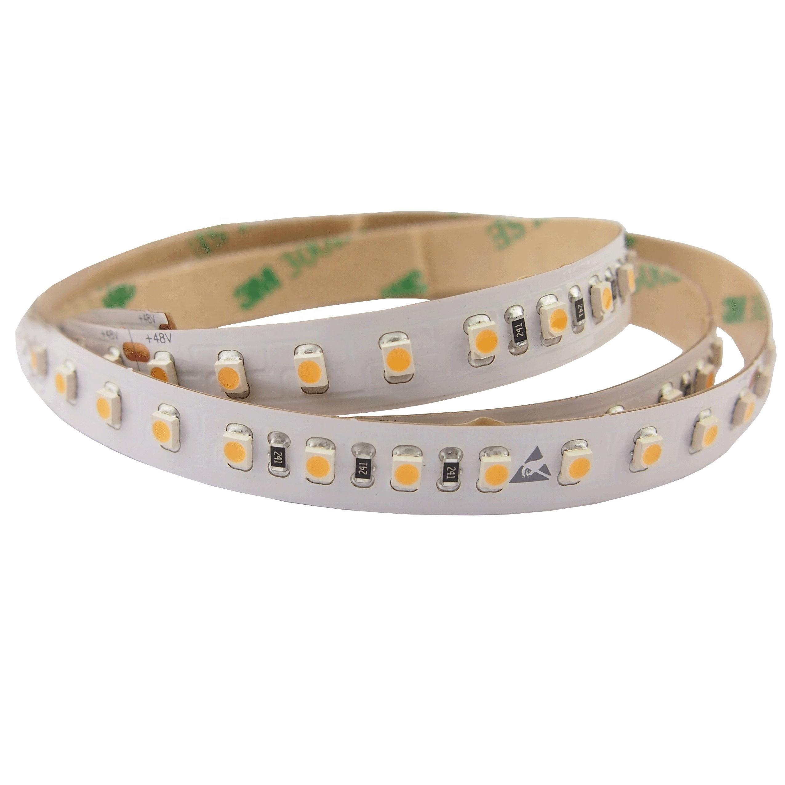 color uniform smd3528 smd2835 DC48V led strips long 30m no brightness loss high cri