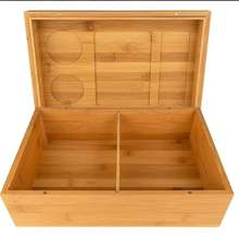 wooden bamboo stash box