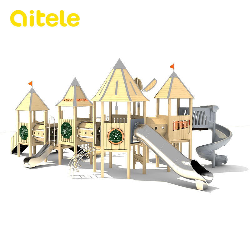 wood kids slides outdoor plastic playground and outdoor for kids