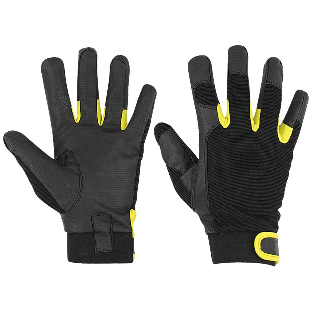 2020 new arrival hand protection work safety synthetic leather mechanics gloves