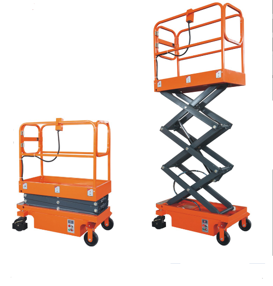 Mobile aerial working platform Mini Semi Electric scissor lift platform