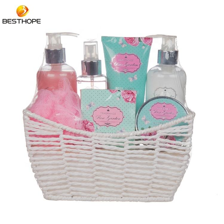 Customized OEM bath and body works body care gift basket sets