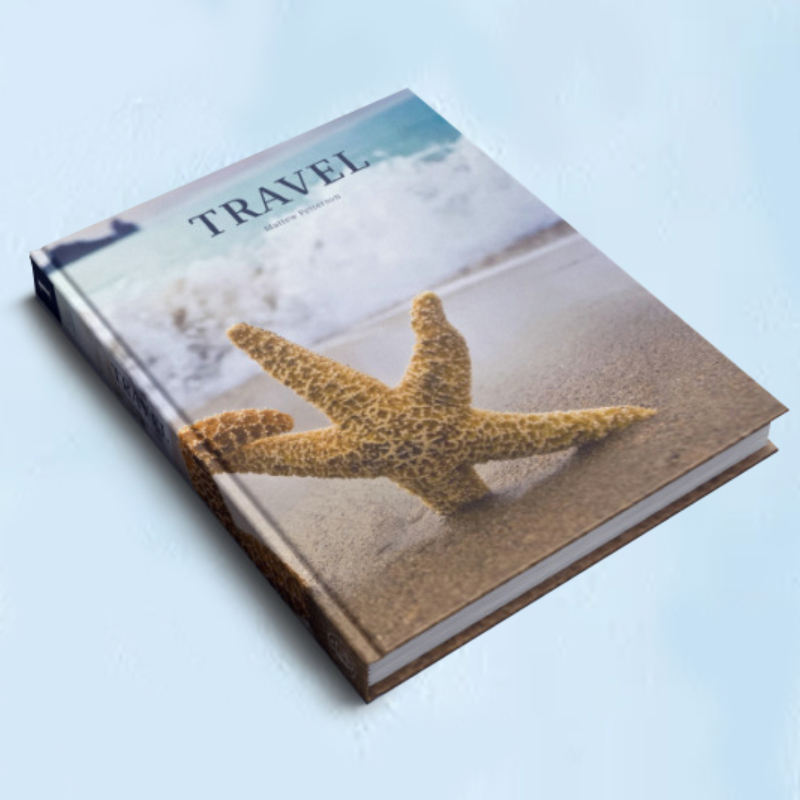 Hard cover book printing travel books Customized printing company product brochure