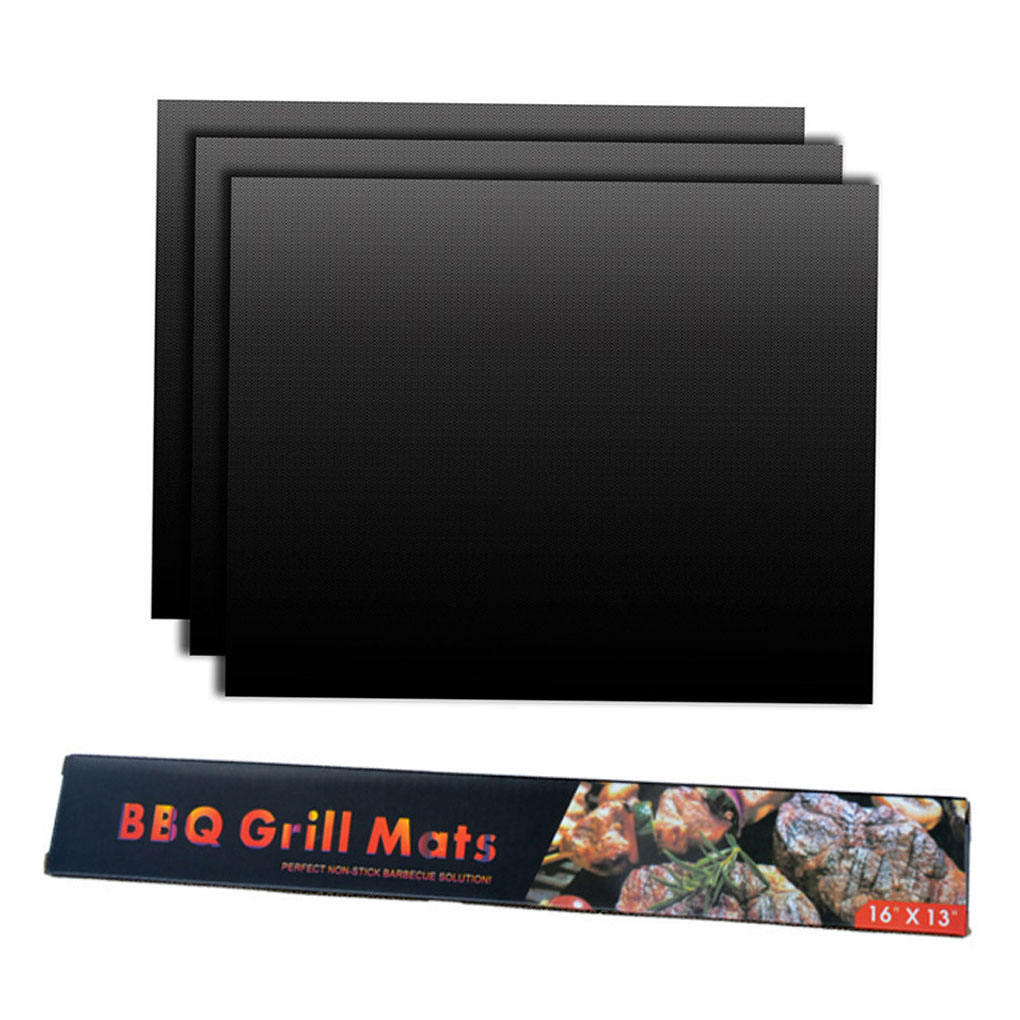2020 New 3Color Non-stick silicone bbq grillmat Barbecue Baking Pad Reusable copper grill mat 3pcs