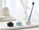 China suppliers concise design round colorful ceramic single bathroom toothbrush holder
