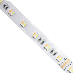 SMD5050 RGBWW led strip DC24V 60led 5meter waterproof IP67 r