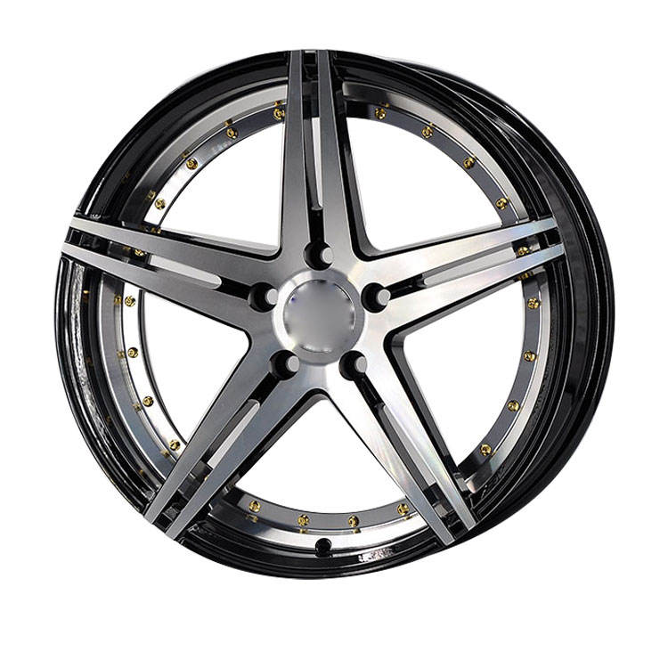 Iv-807 Custom Hot Sale 18 Inch 5/108 5/112 5/114.3 5/120 5 Spokes Beadlock Alloy Car Rims Wheel