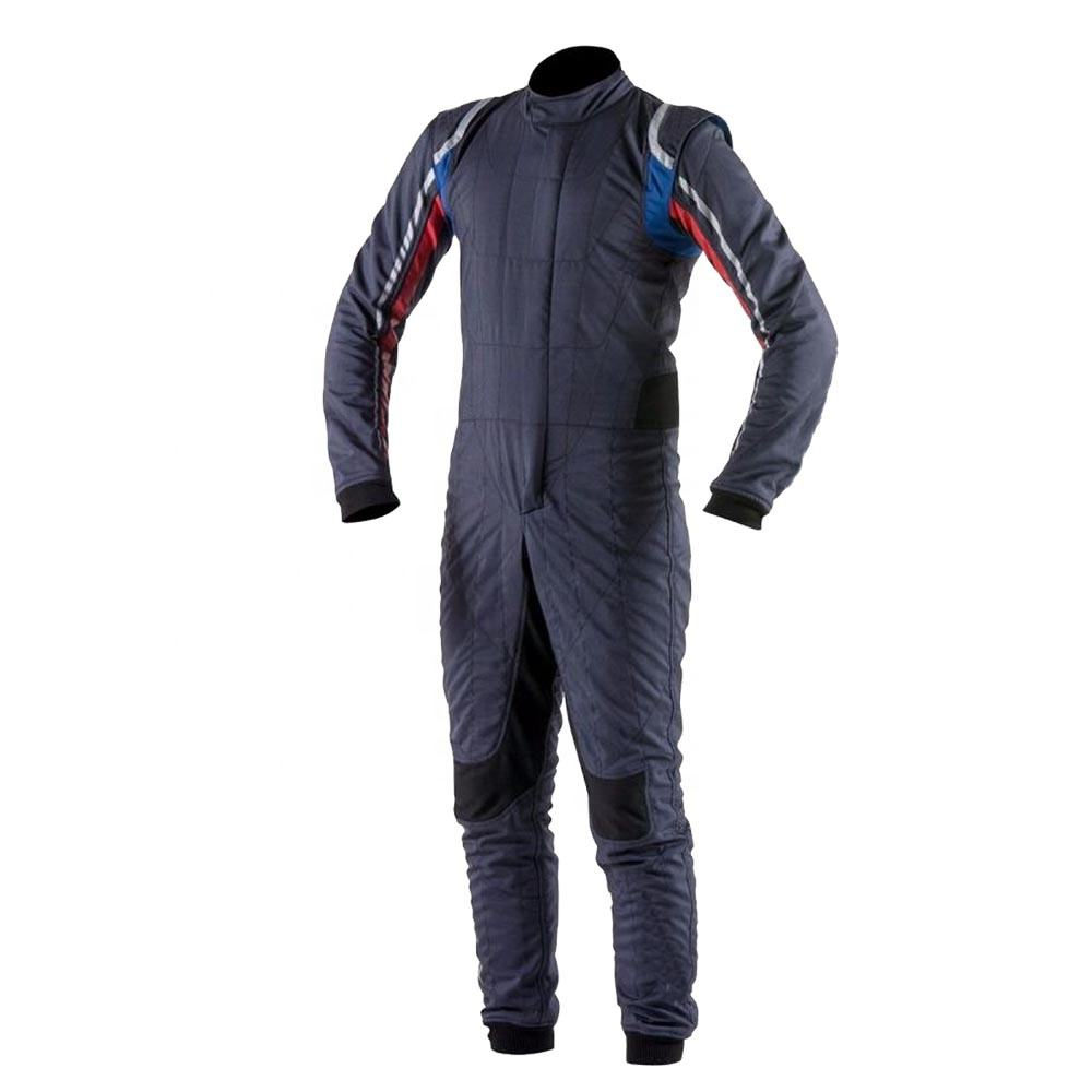 Grey white black Car racing Fire Resistance Aramid suit