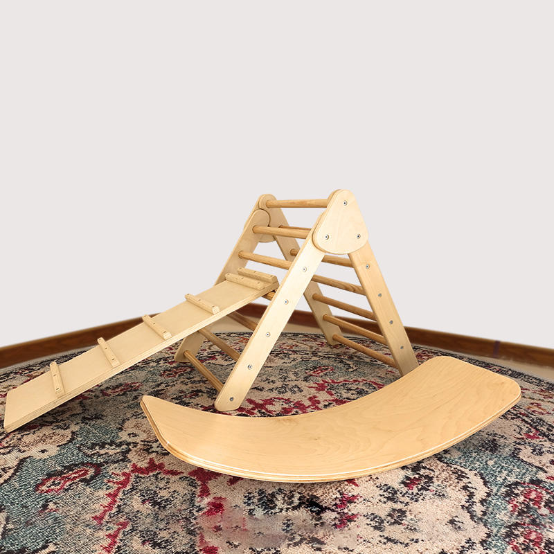 Pikler Triangle Folding Step Ladder Children pikler triangle climber climbing ladder kids climbing frame wooden playground