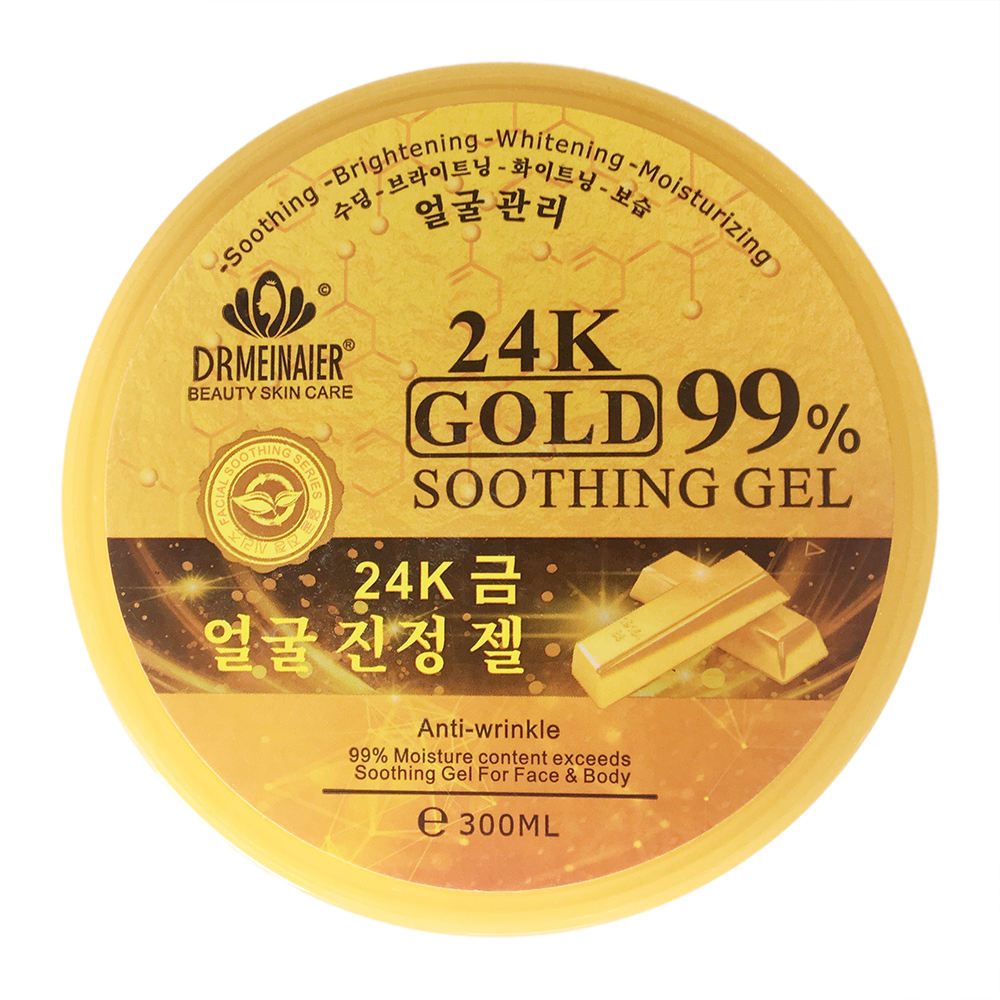 Newly 99% Moisture Content Exceed 24K Gold Soothing Gel For Body and Face