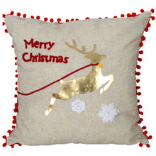 Holiday Design Body Cushion Christmas towel embroidery cushion cover Metallic print pillow cover