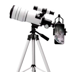 Student 15X-150X High Magnification 70300 Refractor Telescope With Adjustable Tripod With Phone Adapter