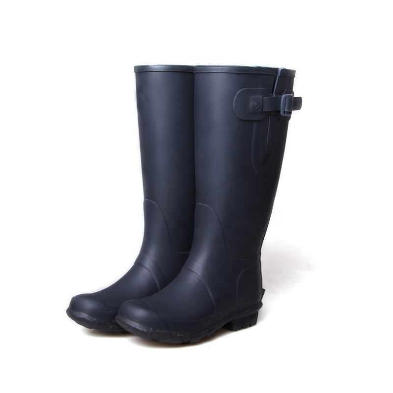 3539 High-top mature wellington rain boots long fishing rubber milking boots