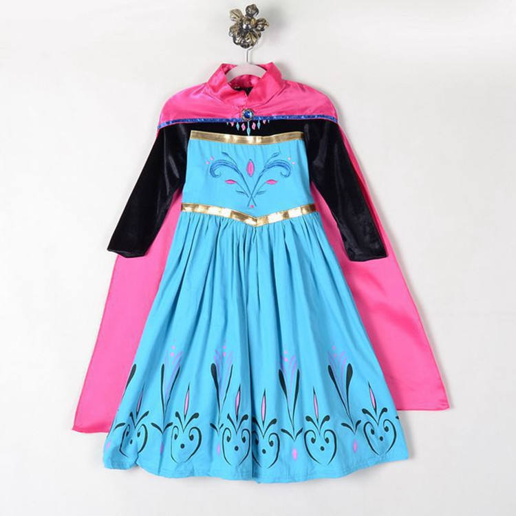 Online Wholesale girls dresses Frozen 2 Anna Costume Party Performance Cosplay costumes
