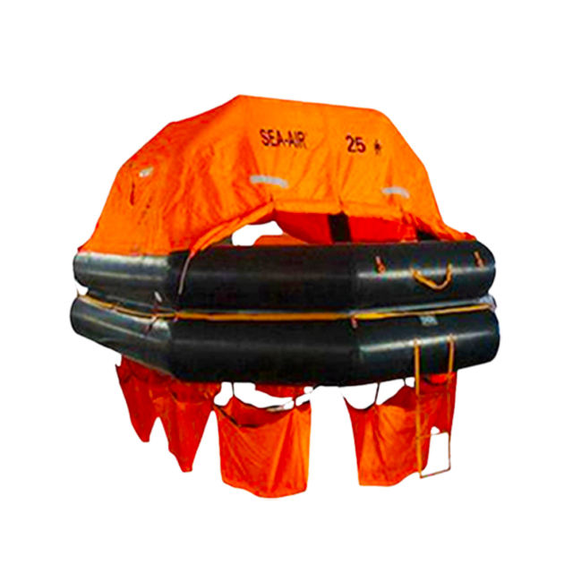 AOR SOLAS Approved Factory direct sale Davit Launched Type inflatable life raft low price