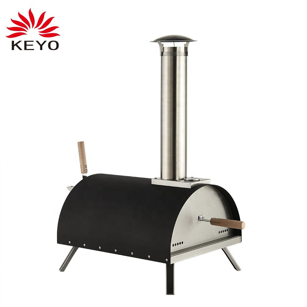Outdoor Pizza Oven Wood fire Black Pizza Oven Portable Pizza Oven