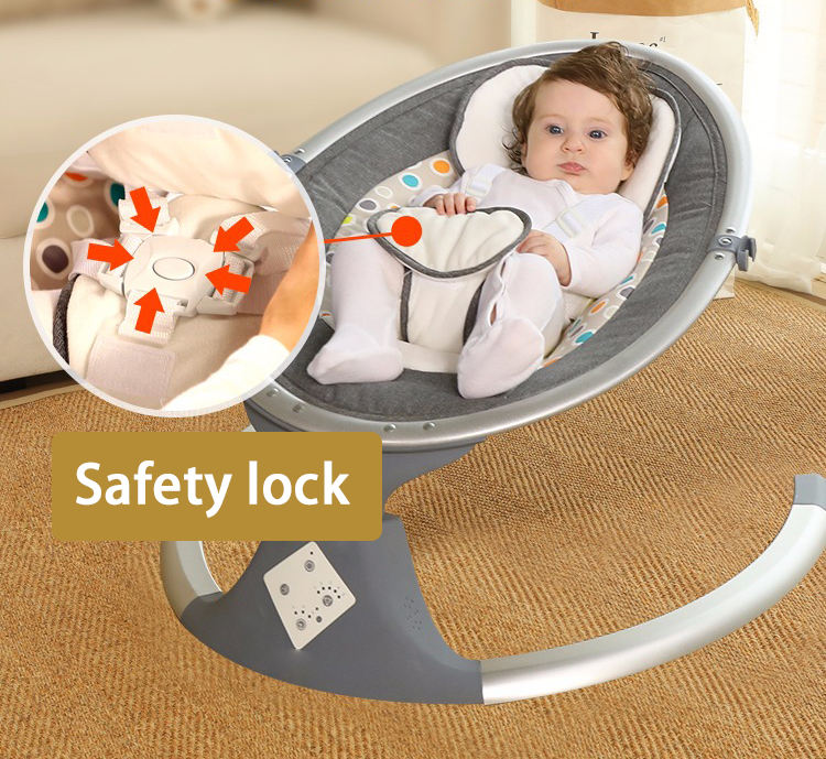 China Manufacturer Multifunctional Baby Crib Mosquito Net Bed Baby Electric Cradle Swing for Newborn Baby
