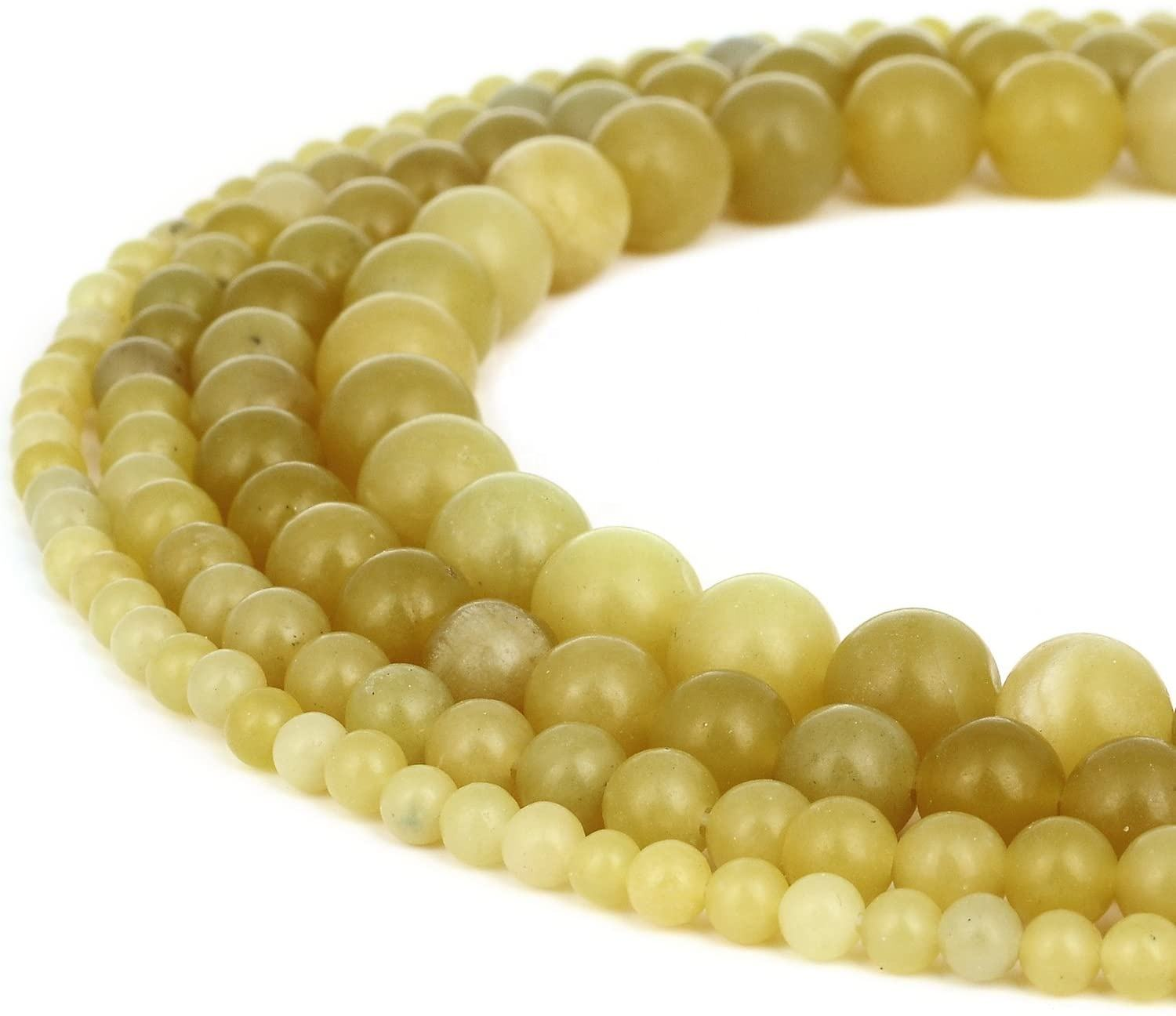 High quality natural lemon jade ball beads DIY men's and women's necklaces bracelet jewelry