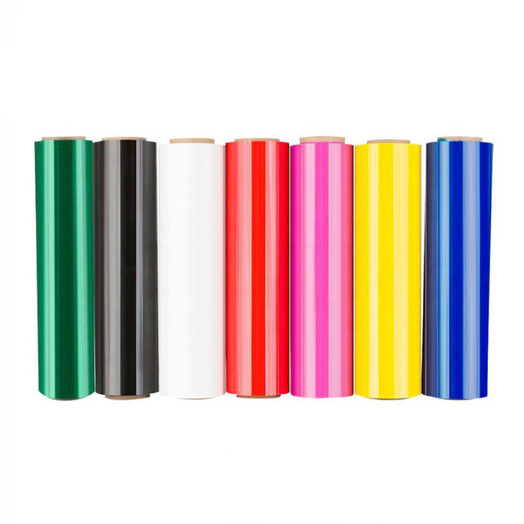 Multi Size Custom Color Red Green Black Blue Pink Yellow Plastic Packaging Pallet Stretch Wrap Film