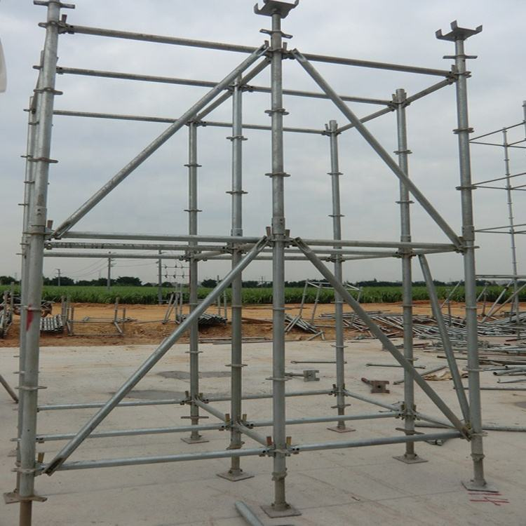 EN 12810 Heavy duty ring system scaffolding for bridge construction