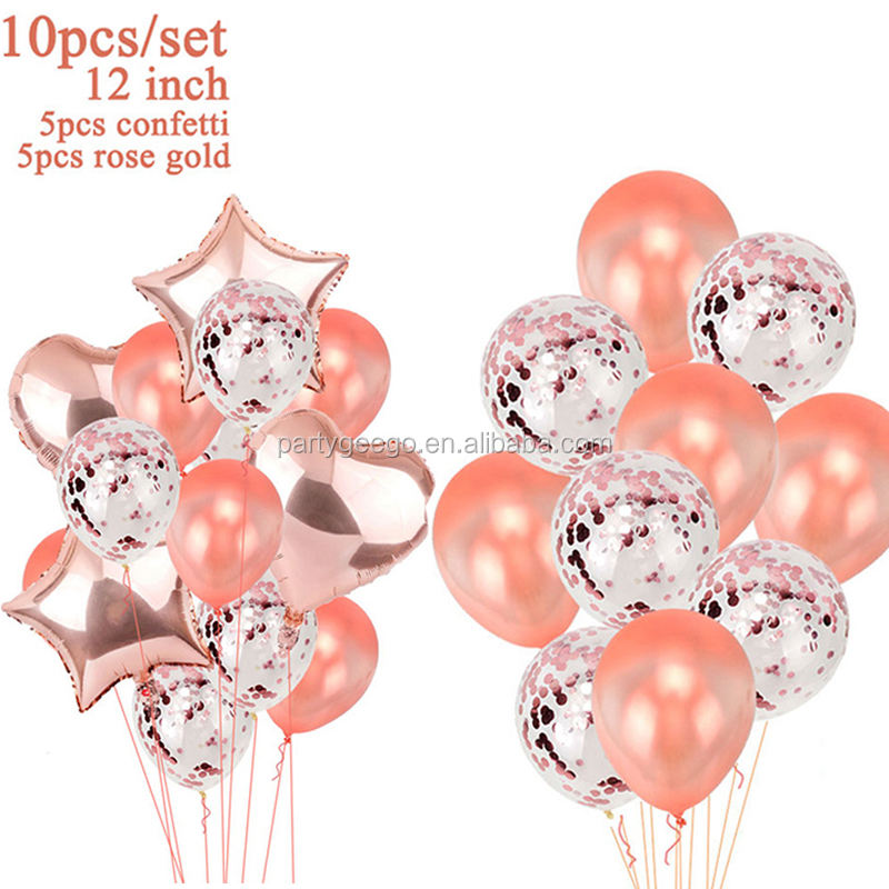 Rose Gold Bride To Be Balloons set Heart Star letter foil balloon for decoration kit