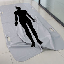 Center Zipper Heavy duty disaster transport body bag mortuary shrouds with dowel handles for bariatric size