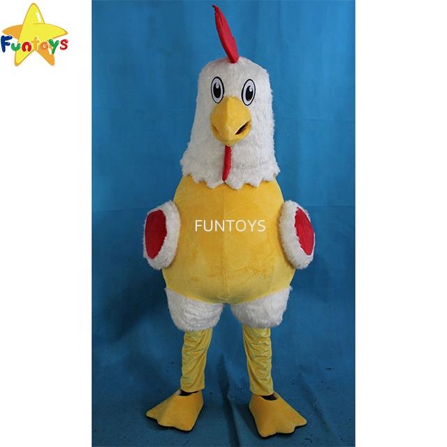Funtoys White Rooster Mascot Costume Fancy Dress Party Chicken Halloween Costume For Adult Cosplay Carnival