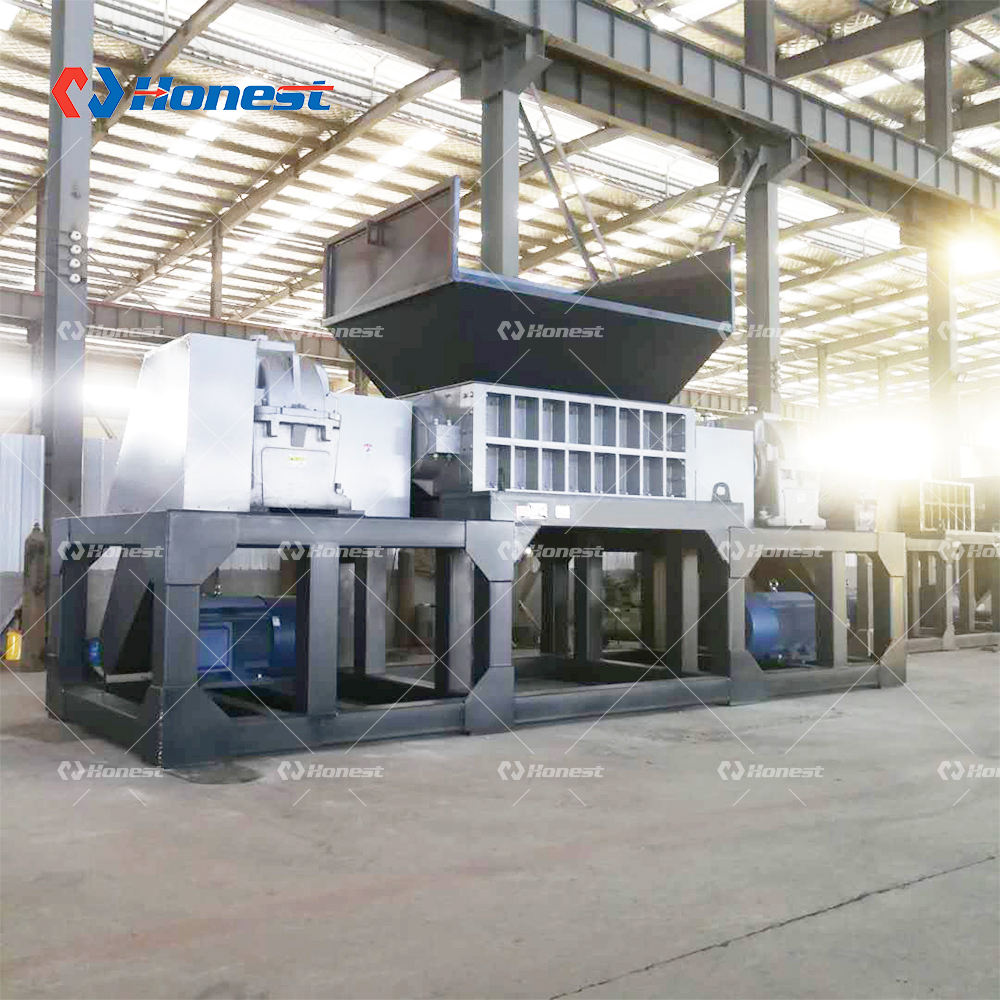 Double Shafts Plastic Crusher Shredder Machine