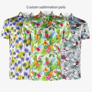 Professional golf apparel supplier New design dry fit man polo t shirt sublimated polo shirt sublimation golf shirt custom