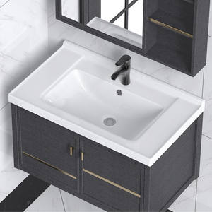 Modern cabinet countertop rectangular lavabo wash hand bathroom sink basin
