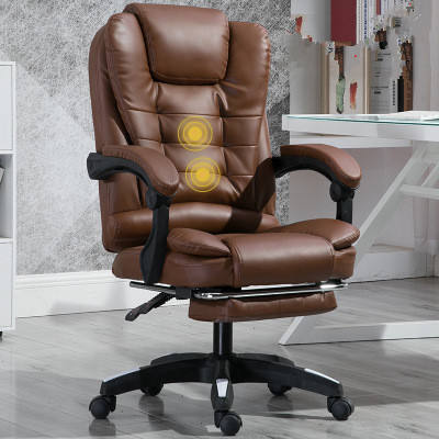 Ergonomic PU Leather Office Chair Revolving Boss Chair With massage function