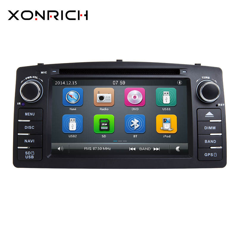 2 Din Car DVD Player For Toyota Corolla E120 BYD F3 2000 2005 2006 Radio Multimedia Head Unit Stereo GPSNavigation Audio