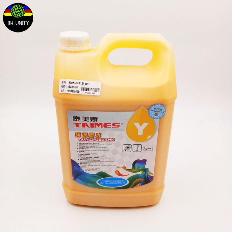 Konica 512/512i/1024/1024i print taimes eco solvent ink cyan for allwin flora jhf taimes inkjet printer CMYK 5000ml/bottle