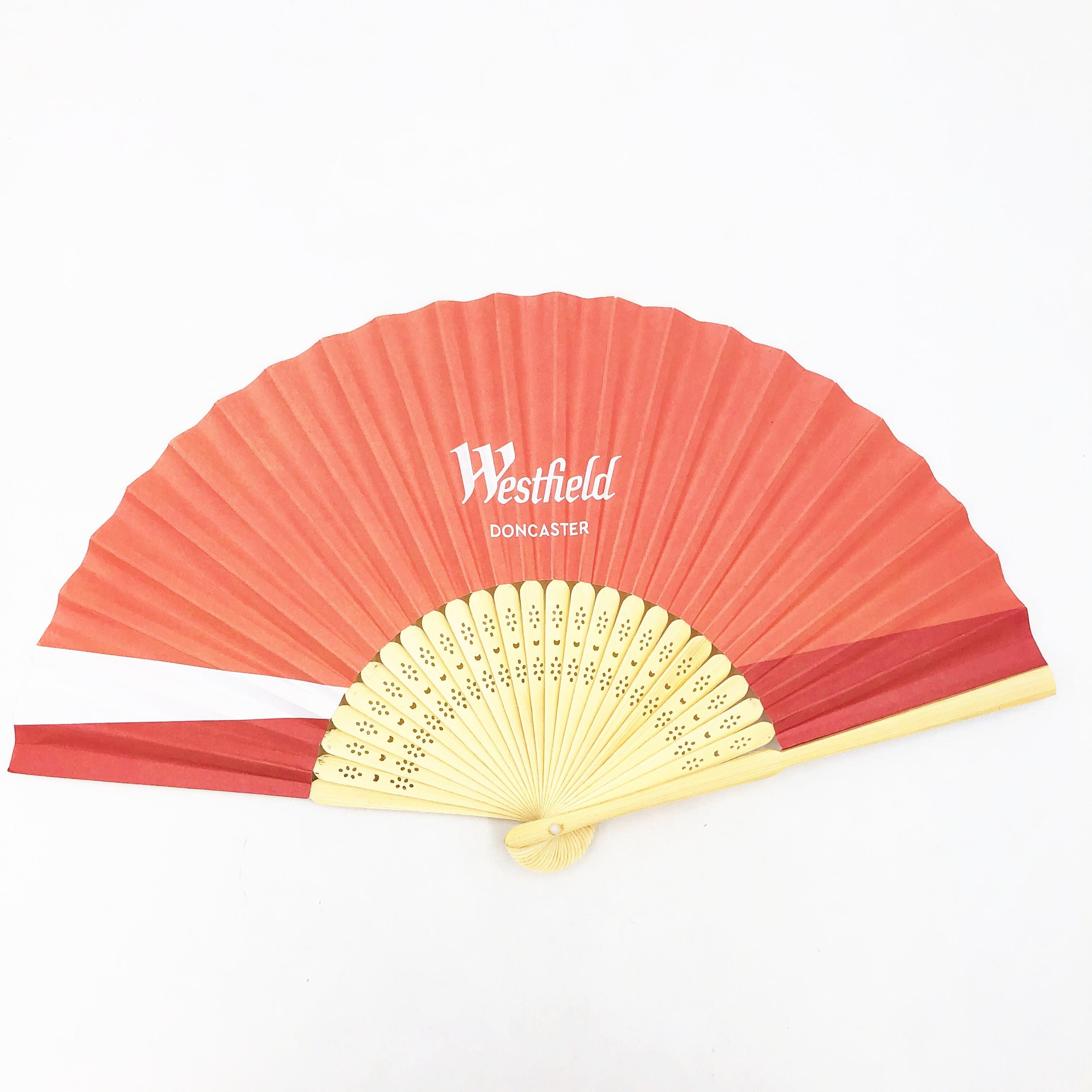 New Fashion Eco friendly 21cm Small Paper Bamboo Hand Fan