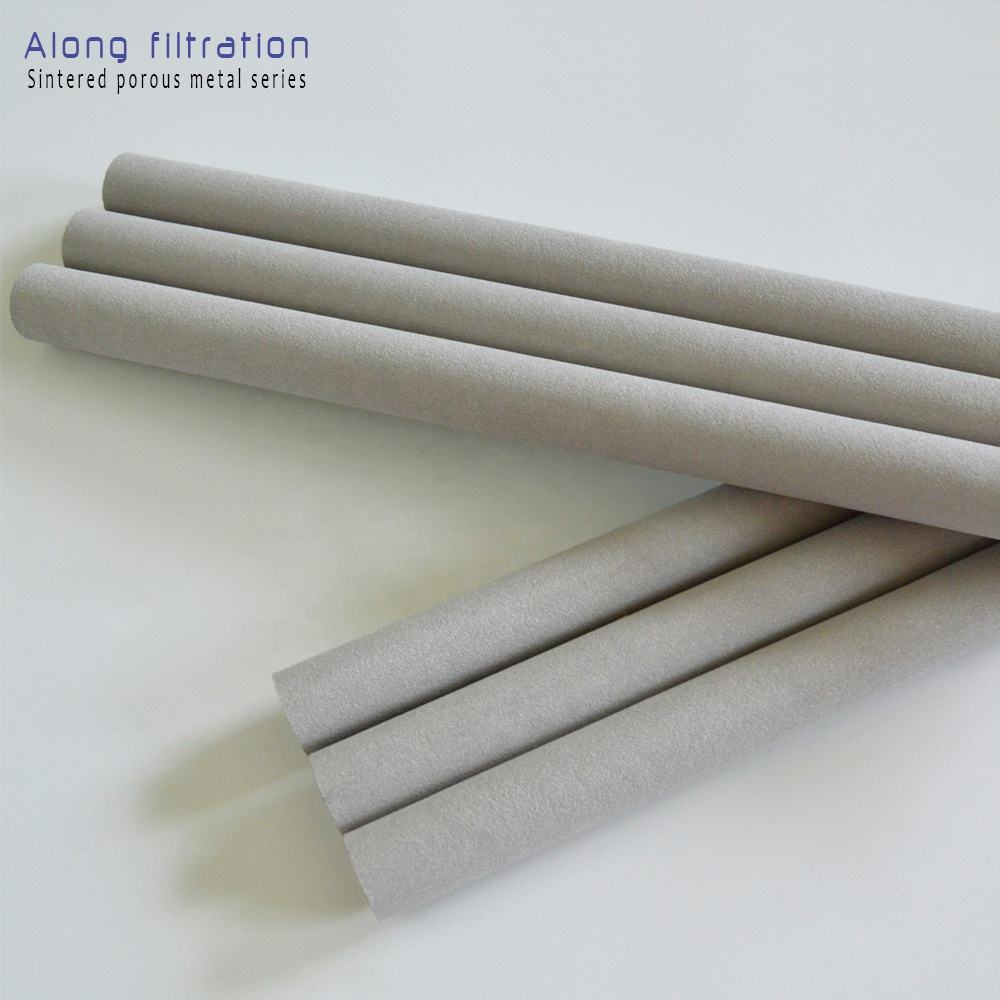 10 micron 30mm diameter 316L sintered pipe candle porous cartridge