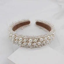 Occident style baroque headband hand sewn pearl headhairbands forwomen wedding jewelry hair accessories
