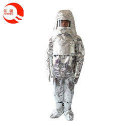 CCS approval aluminum foils fireman suit/ heat insulating fire protection clothing