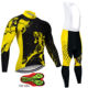 Warm Winter Thermal Fleece Cycling Clothes Men's Jersey Suit Outdoor Riding Bike MTB Clothing Bib Pants Set triathlon