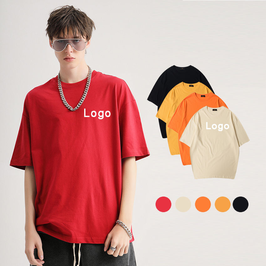 Hot Selling Custom Polyester Cotton Short Sleeves Hip Top Men's T Shirts