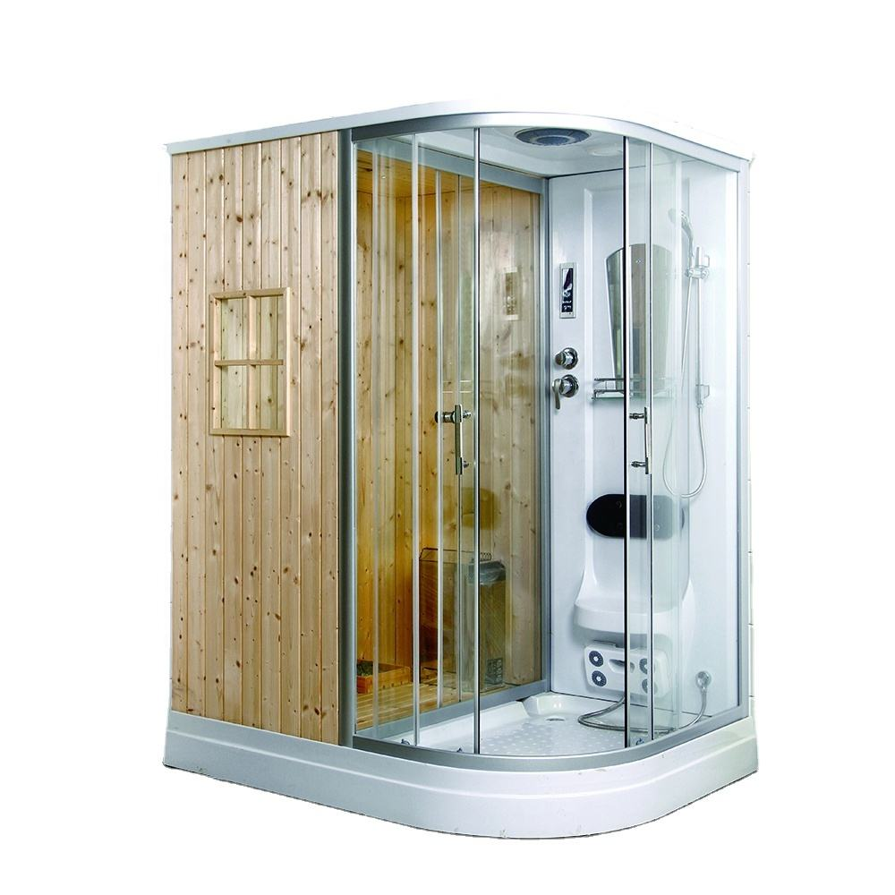 Factory Manufacture Sauna And Steam Combination Room Portable Wooden Sauna Room