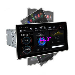 Klyde Tesla MODEL 12.8 Inci Android 9.0 Sistem 2 DIN Mobil Dvd Player 4G + 32G/64G Octa Core Audio untuk Vertical Universal