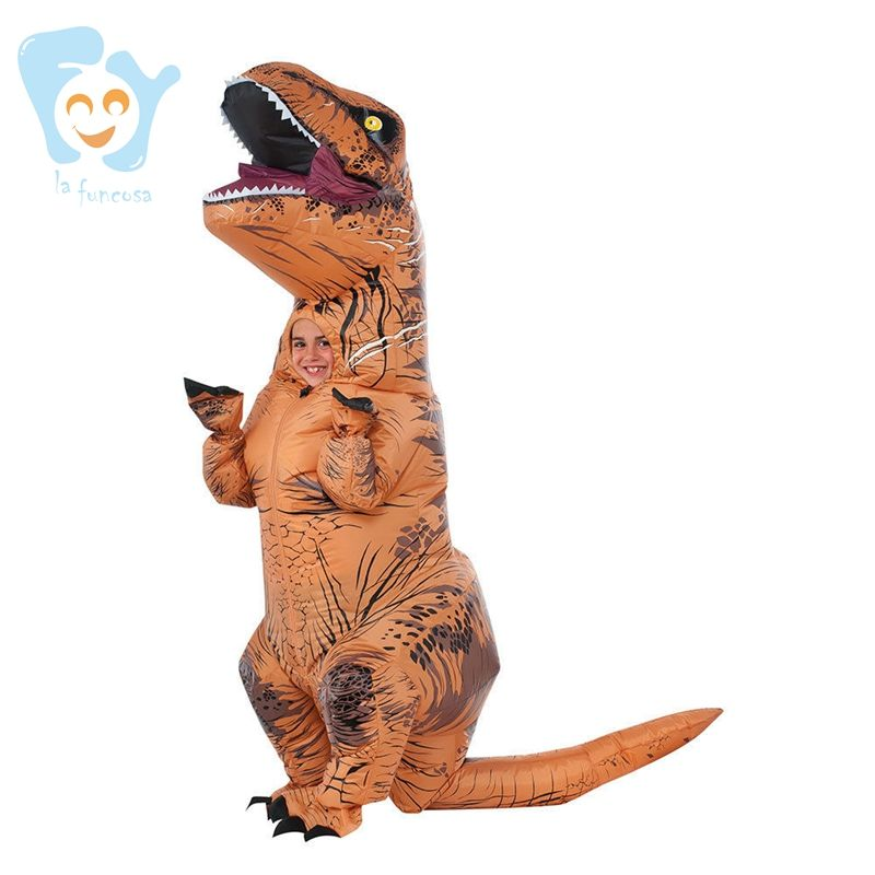 Kid Halloween Party Cosplay Dinosaurier Maskottchen Jurassic World Park Aufblasbare T rex <span class=keywords><strong>Kostüme</strong></span>