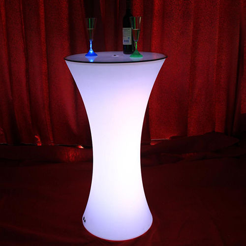 Levou mobiliário mesa de jantar bar led glowing cocktail mesa led mesa de boate