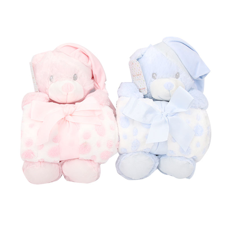 wholesale hot sale baby blanket and animal toy baby soft swaddle blanket