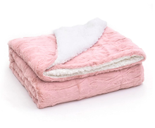 Wholesale high quality Fuzzy cozy Luxury super soft plush fluffy warm shaggy double Fleece  Faux Fur Throw Blanket for sofa