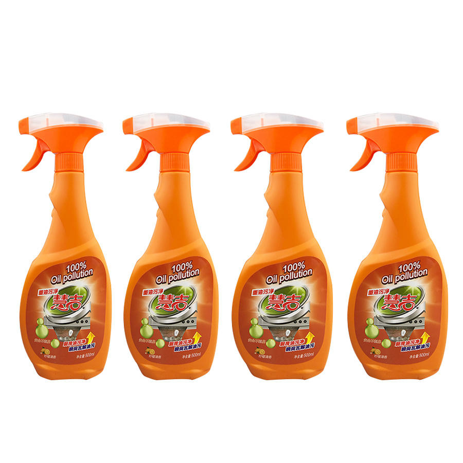 500ml Kitchen Cleaner Spray Foam Dissolvable Cleaning Pods Anti-Fungal Kitchen Cleaner