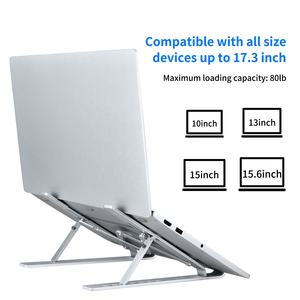 Hot Aluminium Multi-functional folding portable notebook tablet phone bracket PC Laptop stand factory
