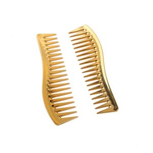Amazon hot selling electroplating gold color hair comb plastic hair salon comb wholesale