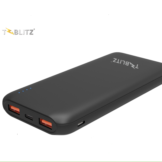 T-Blitz Power Bank 10000mAh QC3.0 TBP-10PQ with Type-C interface for Samsung Xiaomi iPhone portable fast charging power bank
