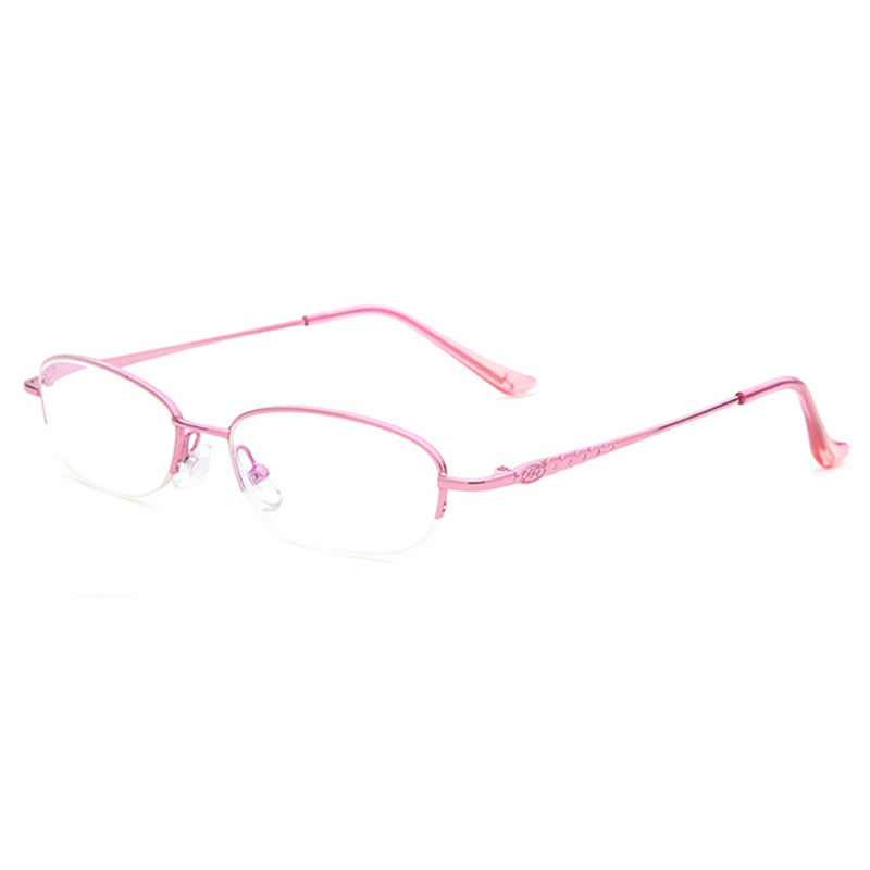 DY8604 Wenzhou Eyewear Factory Direct Female Reading Glasses Pink Half Rim Frames Women Reading Glasses With Anti-blue Light